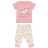 Toddler Girl Crop Pyjamas - Mummy's Little Unicorn