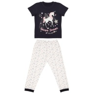 Older Girl Crop Pyjamas - Unicorn Dreams