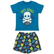 Younger Kids Short Pyjamas - Lazy Bones