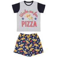 Older Kids Short Pyjamas - Wake Me For Pizza