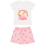 Toddler Girl Short Pyjamas - Unicorn Dreams