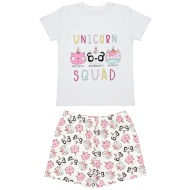 Older Girls Short Pyjamas - Unicorn Squad