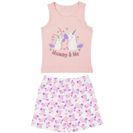 Toddler Girl Vest Pyjamas - Mummy & Me Unicorn