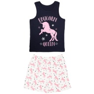 Older Girl Vest Pyjamas - Unicorn Queen