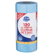 Pure Gleam All Purpose Cloths on a Roll 120pk