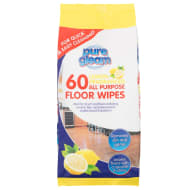 Pure Gleam All Purpose Floor Wipes 60pk - Lemon