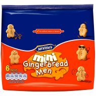 McVitie's Mini Gingerbread Men 6 x 25g