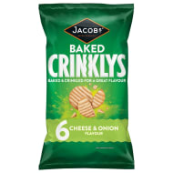 Jacob's Baked Crinklys Cheese & Onion 6pk
