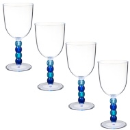 Colour Ball Stem Wine Glass 4pk