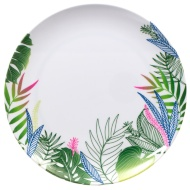 Round Printed Side Plate - Leaf