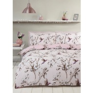 Hummingbird Double Duvet Set - Blush