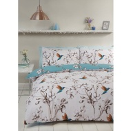 Hummingbird King Duvet Set - Teal
