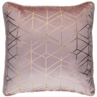 Lexi Metallic Geo Cushion 48 x 48cm