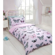 Butterfly Single Duvet Set - Purple