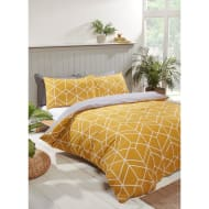 Geo Double Duvet Twin Pack - Ochre