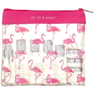 Travel Bottle Set 12pc - Flamingo