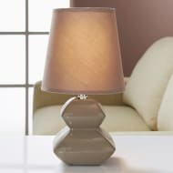Pagoda Pebble Table Lamp - Brown