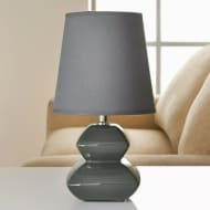 Pagoda Pebble Table Lamp - Grey