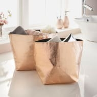 Metallic Storage Baskets 2pk - Rose Gold