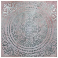 Foil Moroccan Canvas - Pink