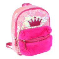 Fur   Sequin Backpack - Crown 328a384bfec96