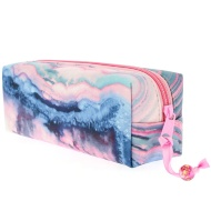 Textured Indigo Pencil Case - Pink