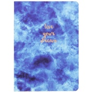 Textured Indigo Notebook - Live Your Dream