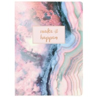 Textured Indigo Notebook - Make it Happen
