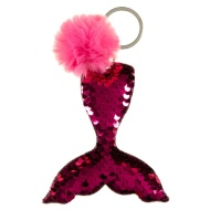 Mermaid Sequin Keyring - Hot Pink