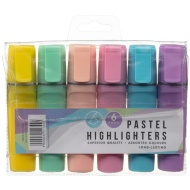 Pastel Highlighters 6pk