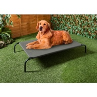 Barkhaus Raised Dog Bed - Grey