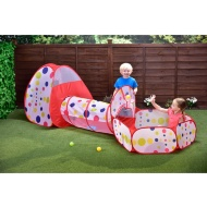 Outdoor Polka Dot Tent 3pc