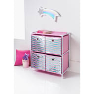 Kids Sequin 4 Drawer Chest