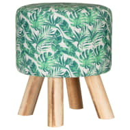 Tropical Leaf Footstool