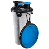 2-in-1 Portable Pet Bottle - Blue