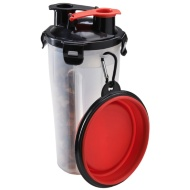 2-in-1 Portable Pet Bottle - Red