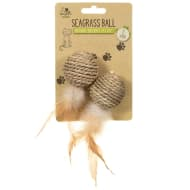Natural Instinct Cat Toy 2pk - Seagrass Ball