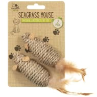 Natural Instinct Cat Toy 2pk - Seagrass Mouse