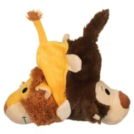Flip-a-Zoo Animal Dog Toy - Lion & Monkey