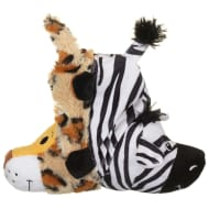 Flip-a-Zoo Animal Dog Toy - Tiger & Zebra