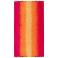 Oversized Pom Pom Beach Towel - Sunset Ombre