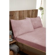 Silentnight Teddy Fleece King Size Sheet Set - Blush