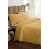 Silentnight Teddy Fleece Double Duvet Set - Ochre