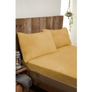 Silentnight Teddy Fleece King Size Sheet Set - Ochre