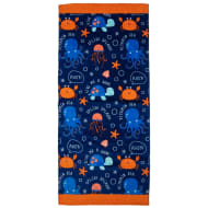 Kids Beach Towel - Sea Life