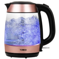 Tower Glass Kettle - Rose Gold