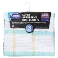Addis Super Absorbent Dish Cloths 3pk - Green
