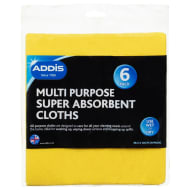 Addis Multi Purpose Super Absorbent Cloths 6pk
