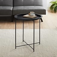 Tromso Tray Side Table - Black