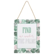 Tropical Hanging Plaque - Under the Palms
